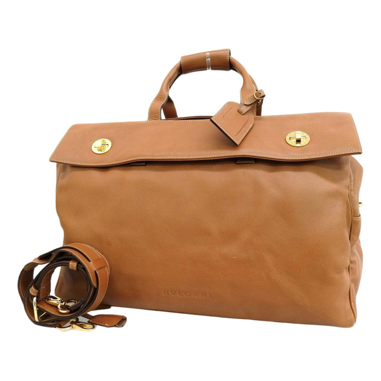 Bvlgari \N Brown Leather handbag for Women \N