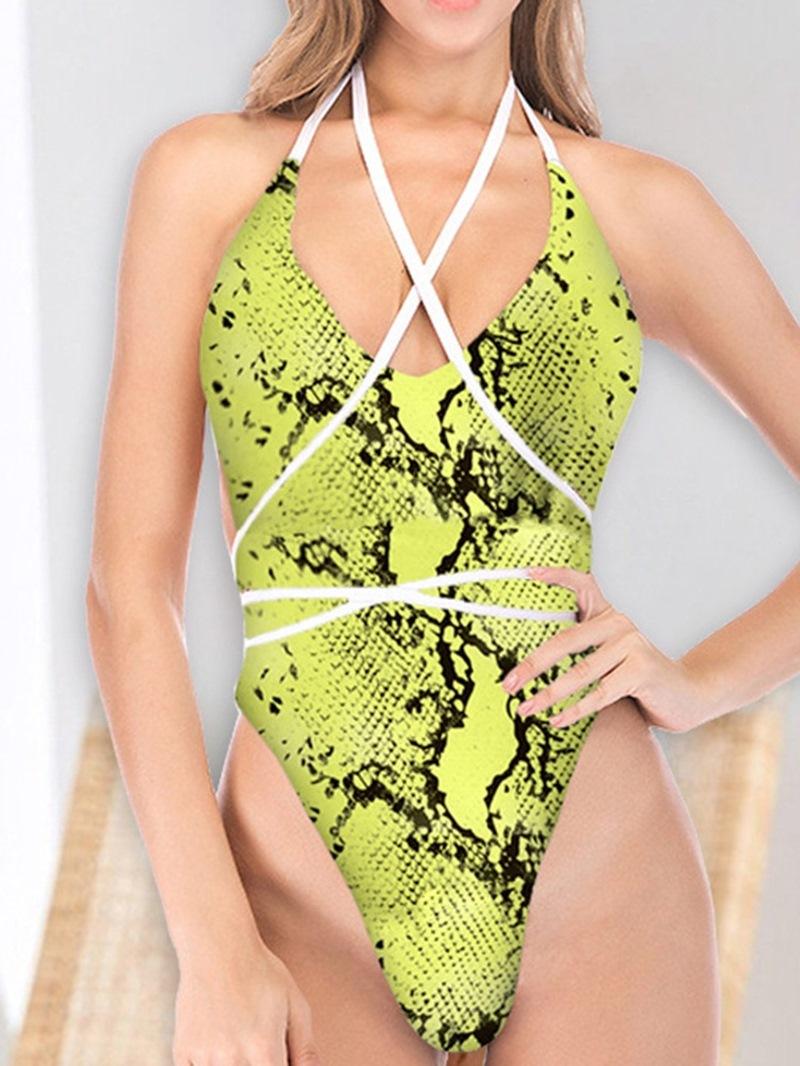 Ericdress Women's One Piece Sexy Leopard Swimwear
