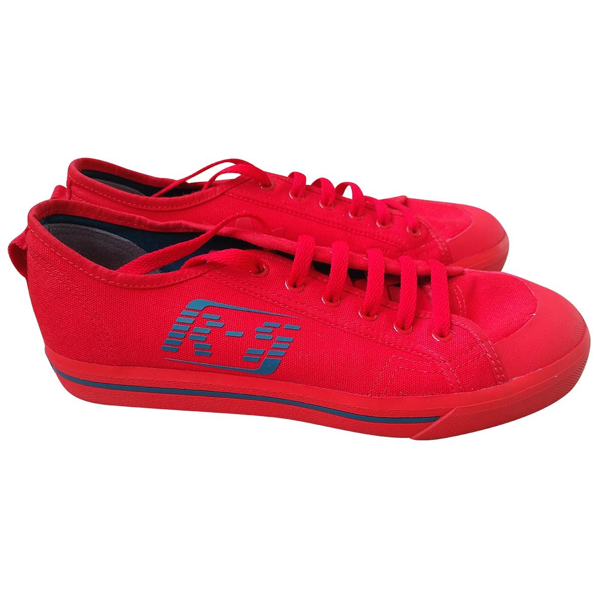 Adidas X Raf Simons - Baskets Spirit pour homme en toile - rouge