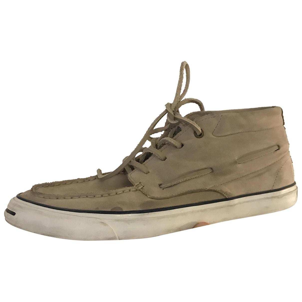Converse \N Stiefel in  Beige Leder