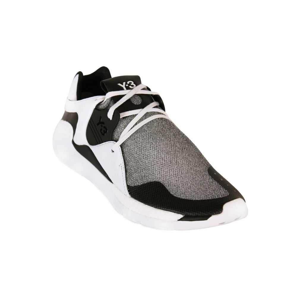 Y-3 Y3 White QR Run Trainers Colour: WHITE, Size: 7