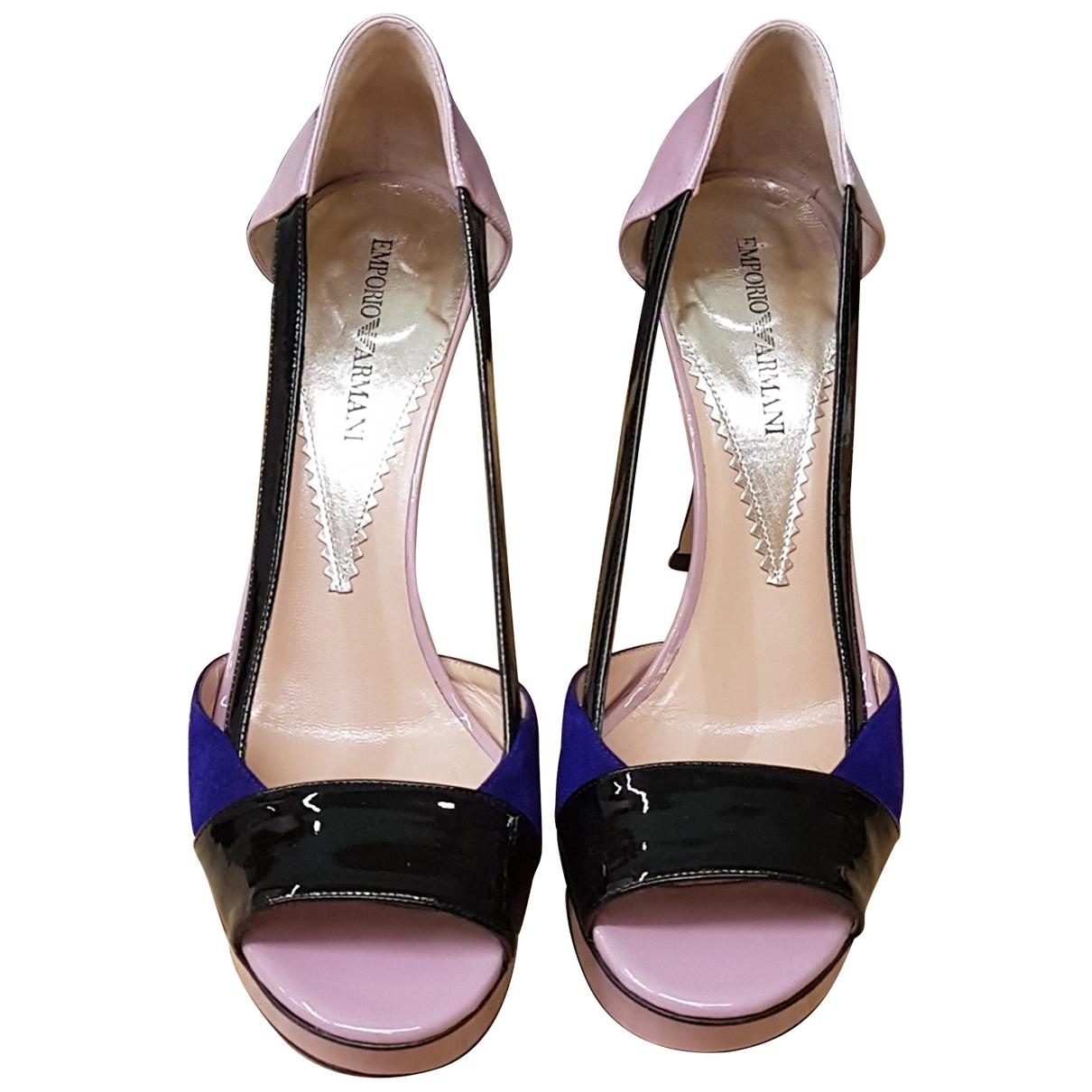 Emporio Armani - Escarpins   pour femme en cuir verni - multicolore