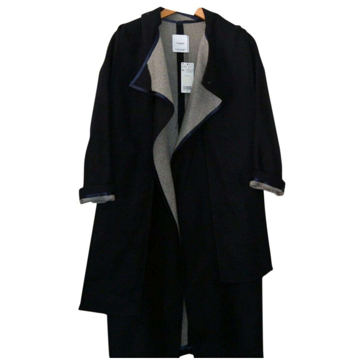 Mango \N Blue Wool coat for Women XS International