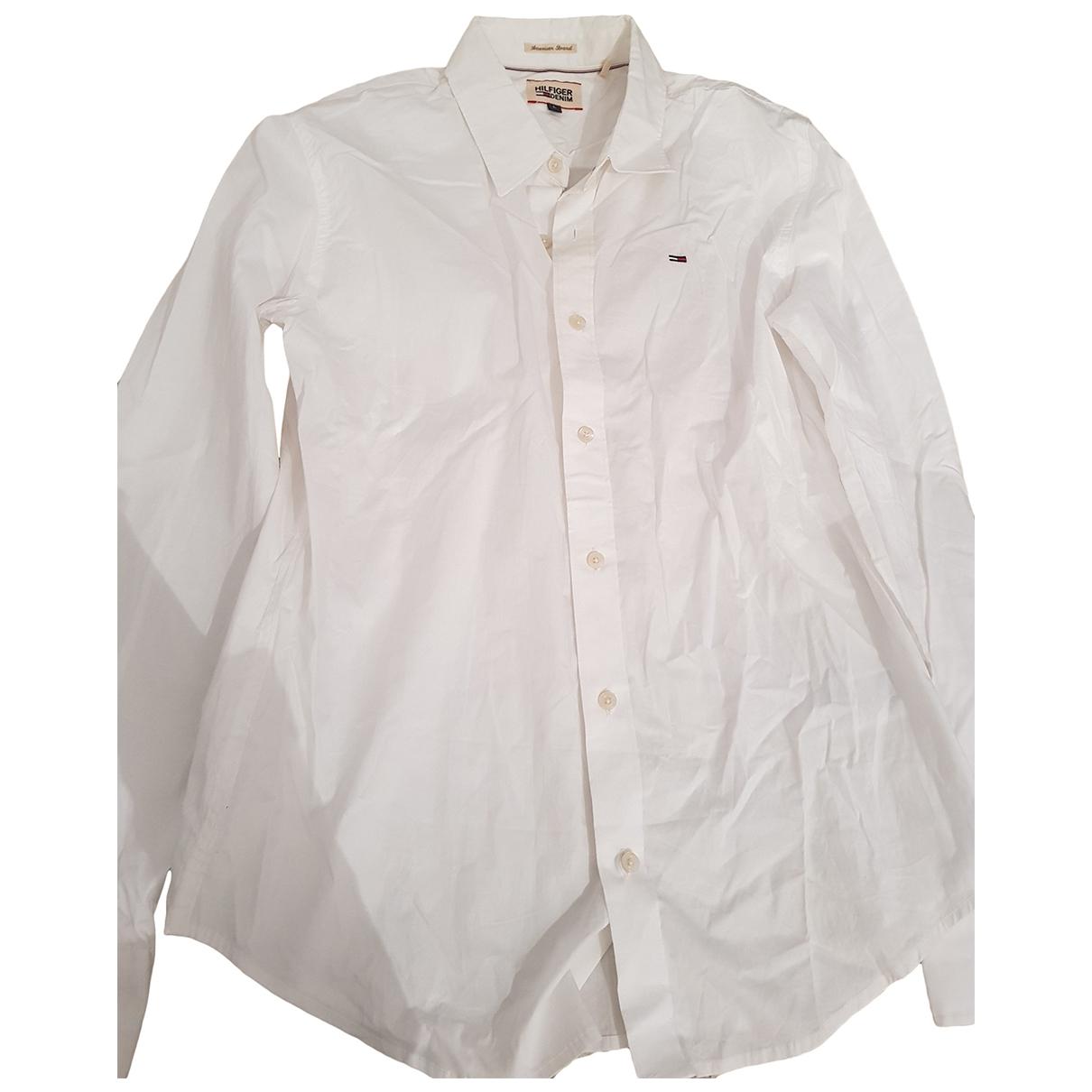 Tommy Hilfiger - Chemises   pour homme en coton - blanc