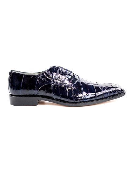 Men's Belvedere Lace Up Navy Fashionable Dress Shoes