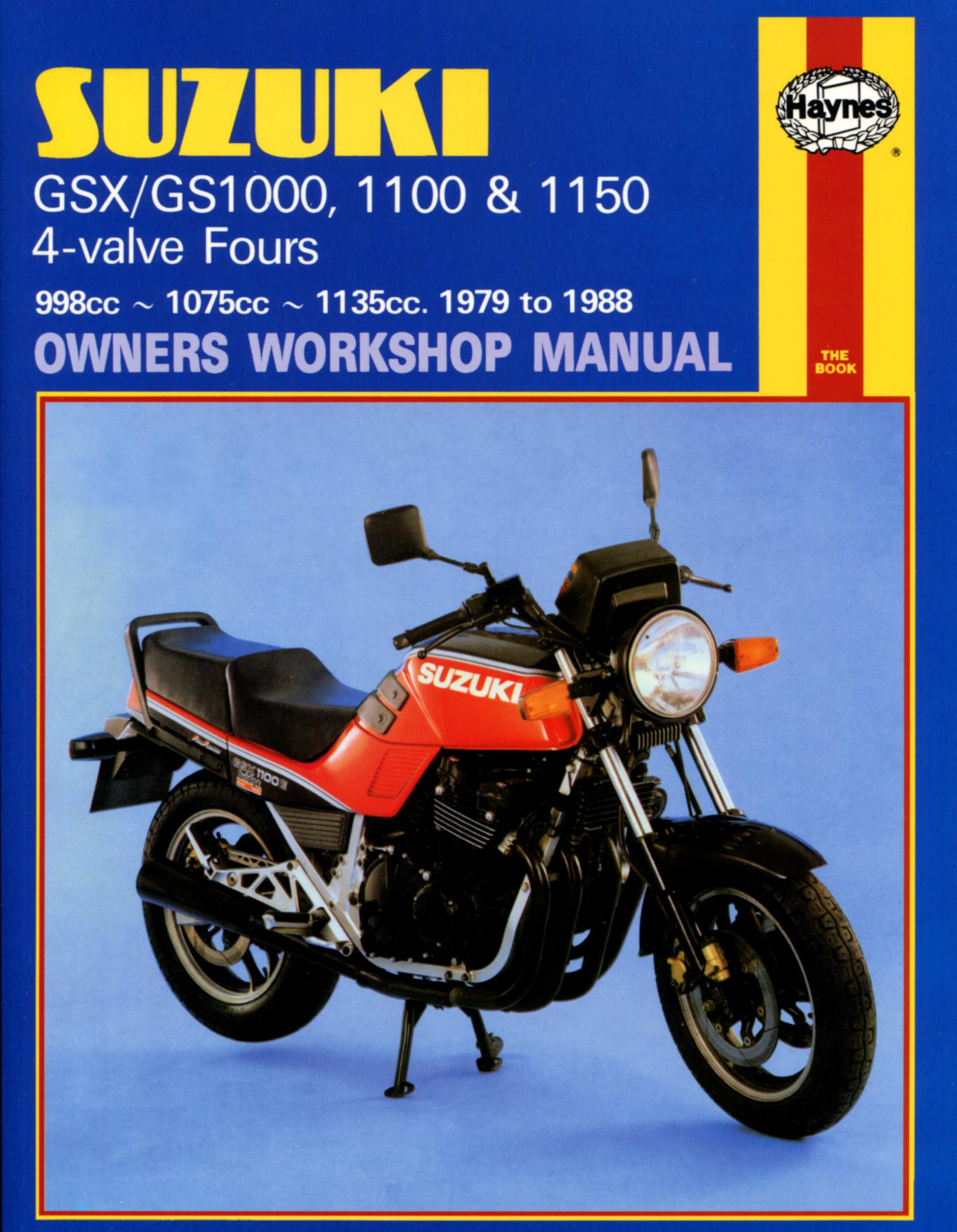 Suzuki GSX/GS1000, 1100 & 1150 4-valves (79-88) Haynes Repair Manual