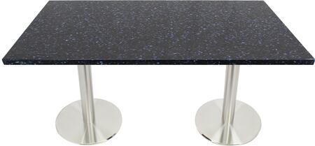 Q409 30X48-SS14-17D 30x48 Blue Galaxy Quartz Tabletop with 17