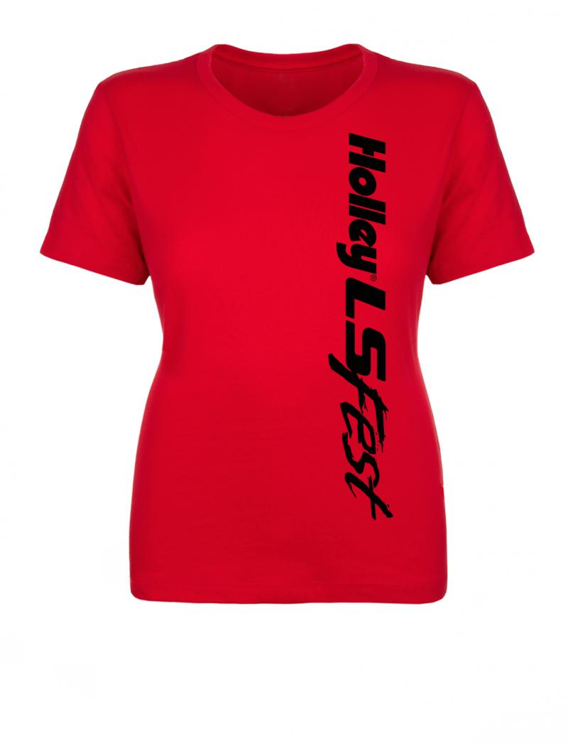 Holley 10215-2XHOL LSFEST LADIES CREW BLOCK PARTY - RED