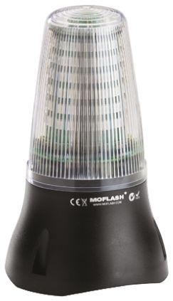 Moflash LEDD 125 White LED Beacon, 24 V dc, , Multiple Effect, Base Mount