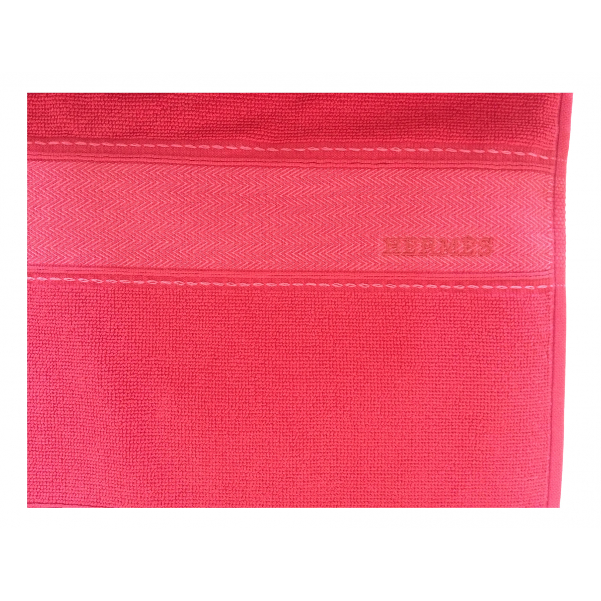 Hermès \N Red Cotton Textiles for Life & Living \N