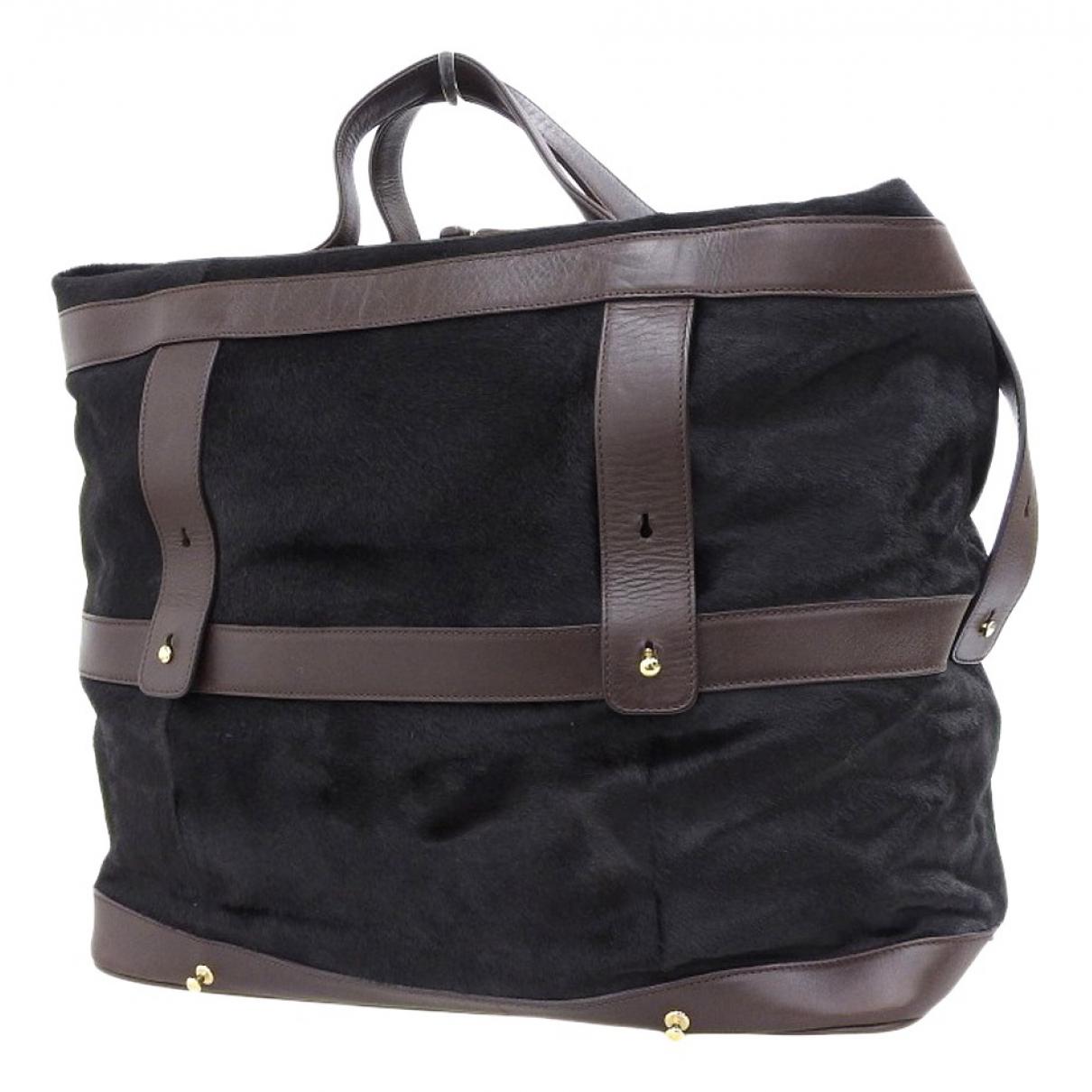 Bottega Veneta \N Brown Pony-style calfskin Travel bag for Women \N
