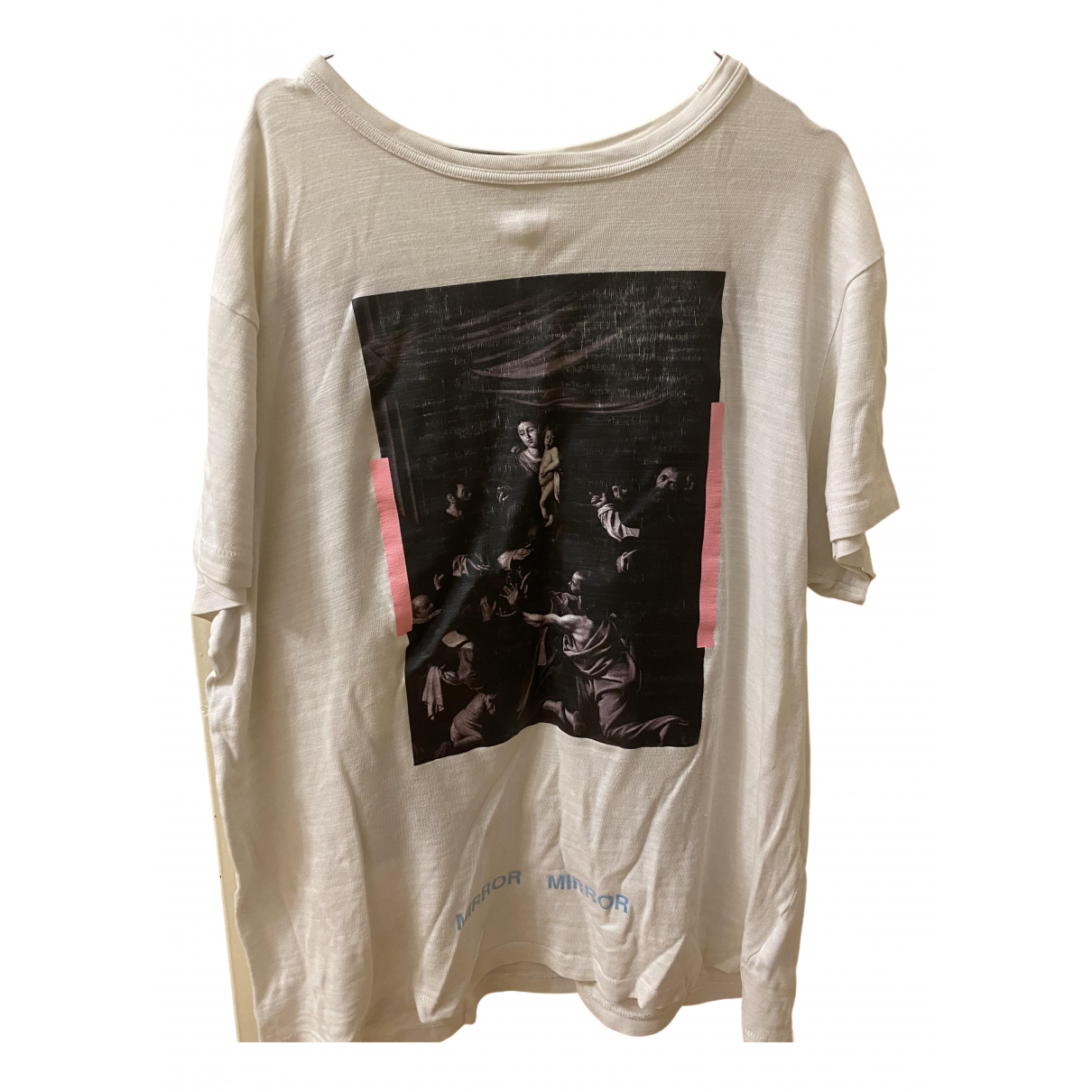 Off-white N White Cotton T-shirts for Men M International