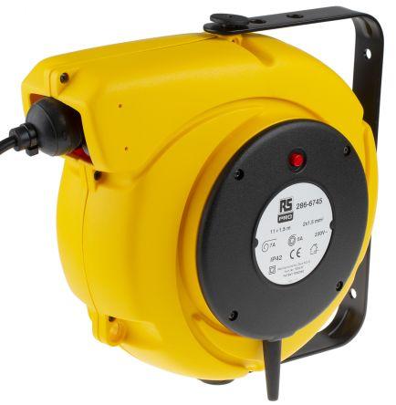 RS PRO 11m 0 Socket Extension Reel, 230 V