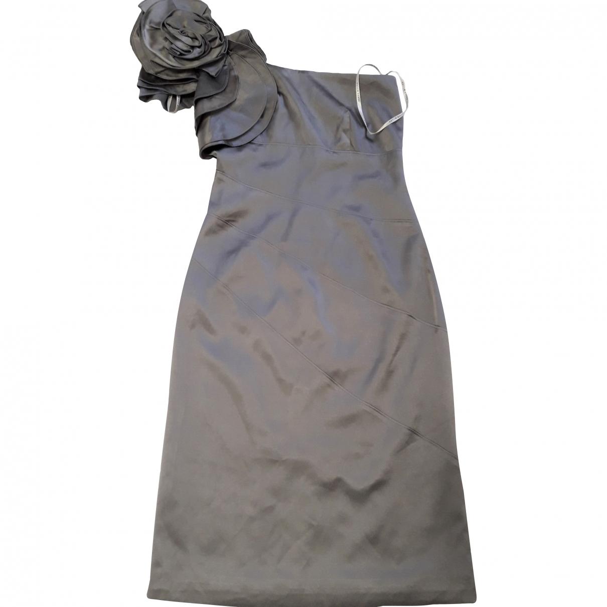 Karen Millen \N Grey Silk dress for Women 42 IT