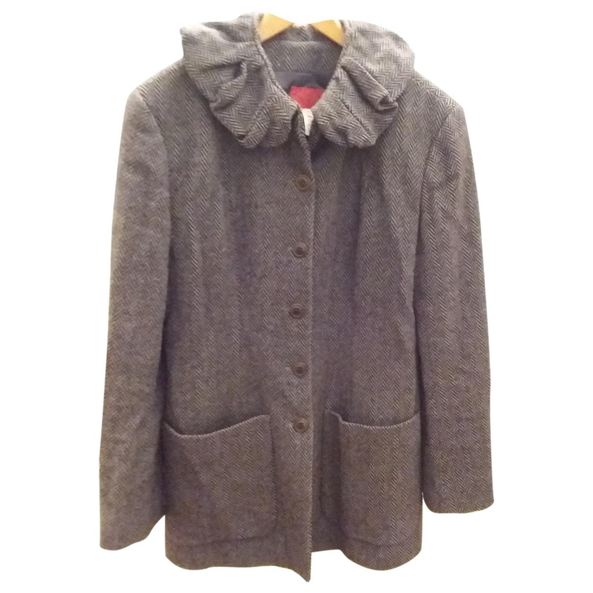 Kenzo \N Grey Tweed coat for Women 40 FR