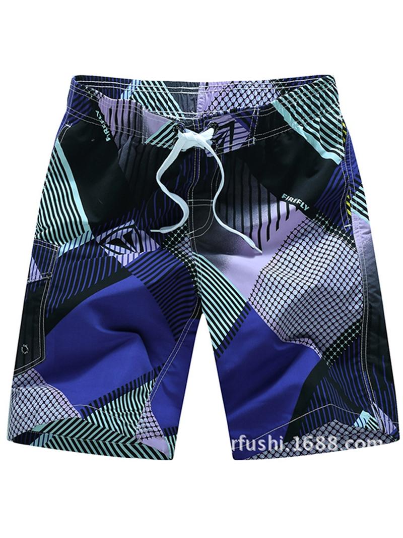 Ericdress Stripe Loose Mens Beach Shorts