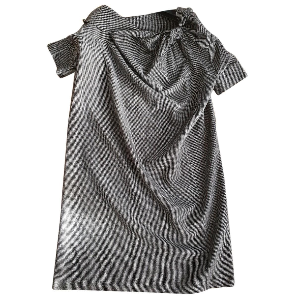 Dries Van Noten - Robe   pour femme en laine - anthracite