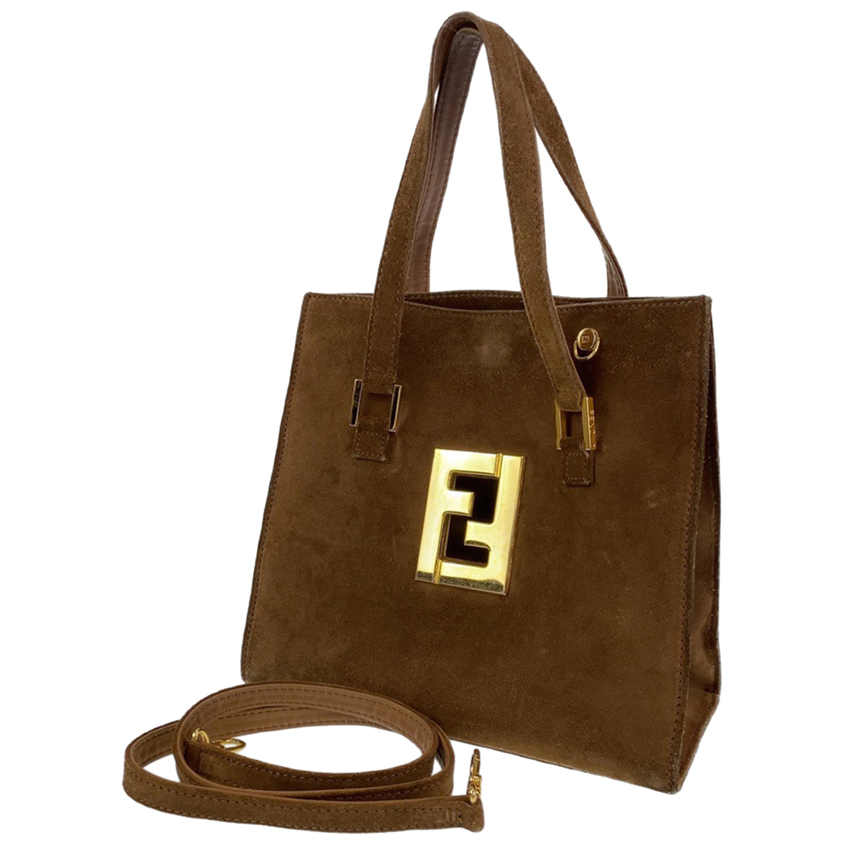 Fendi \N Handtasche in Veloursleder
