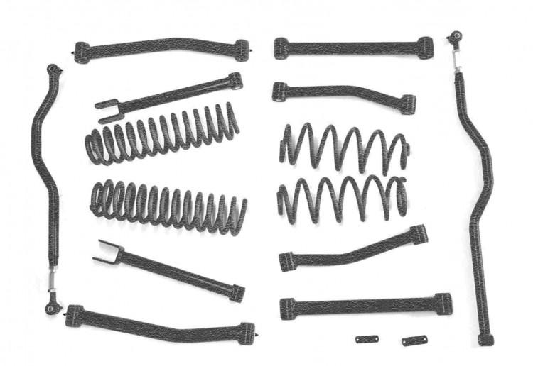 Steinjager J0045748 Lift Kit Wrangler JK 2007-2018 4 Inch Texturized Black