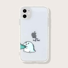 1pc Cartoon Graphic iPhone Case