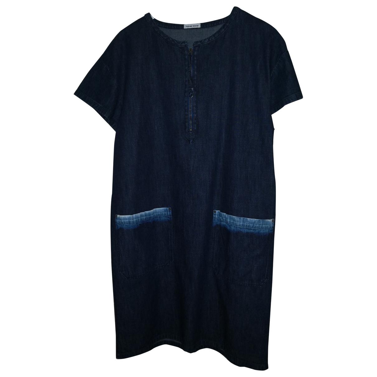 Tomas Maier \N Kleid in  Blau Baumwolle