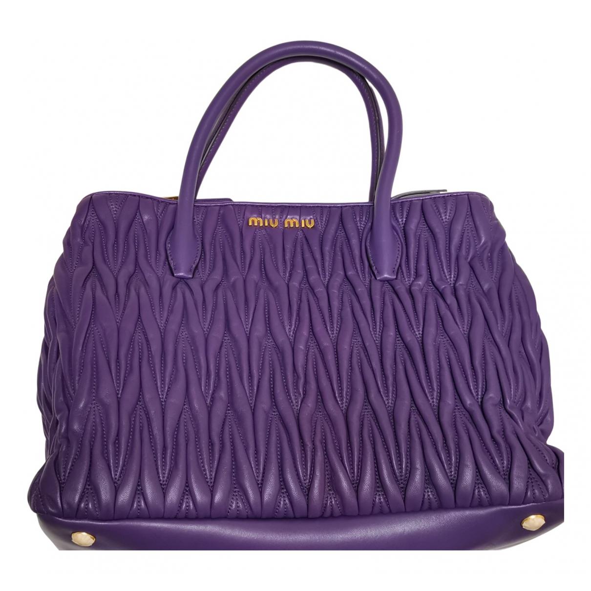 Miu Miu Matelassé Purple Leather handbag for Women N