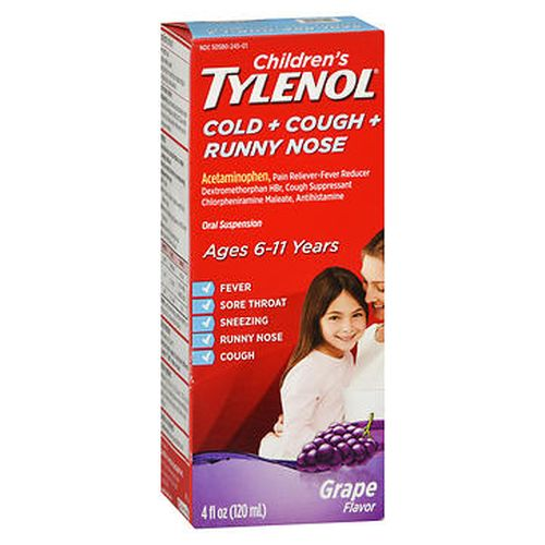 Tylenol Childrens Cold + Cough + Runny Nose Oral Suspension Grape 4 Oz by Tylenol
