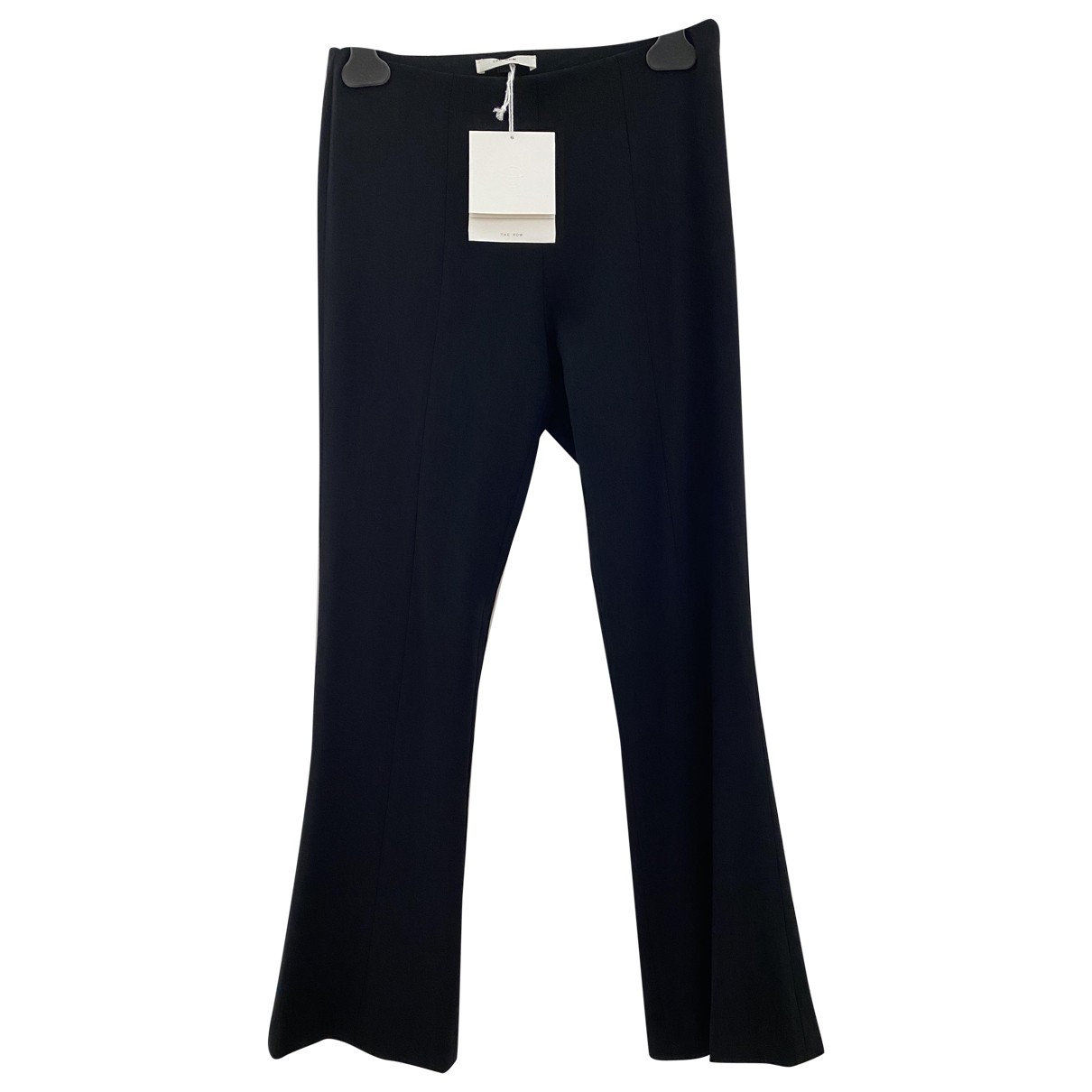 The Row N Black Wool Trousers for Women 2 US