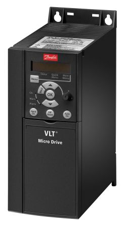 Danfoss Inverter Drive, 1-Phase In, 0 → 200 (VVC+ Mode) Hz, 0 → 400 (U/f Mode) Hz Out 2.2 kW, 230 V, 9.6