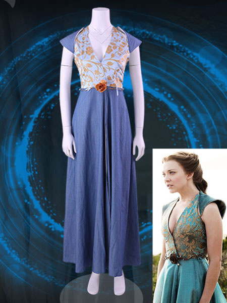Milanoo Game Of Throne Margaery Tyrell Halloween Cosplay Costume