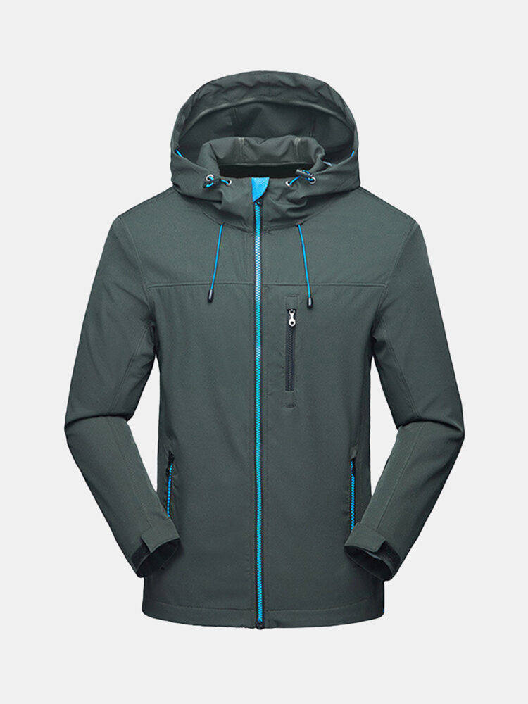 Mens Light Weight Anti-UV Outdoor Quickly Dry Hooded Thin Water Repellent Jackets