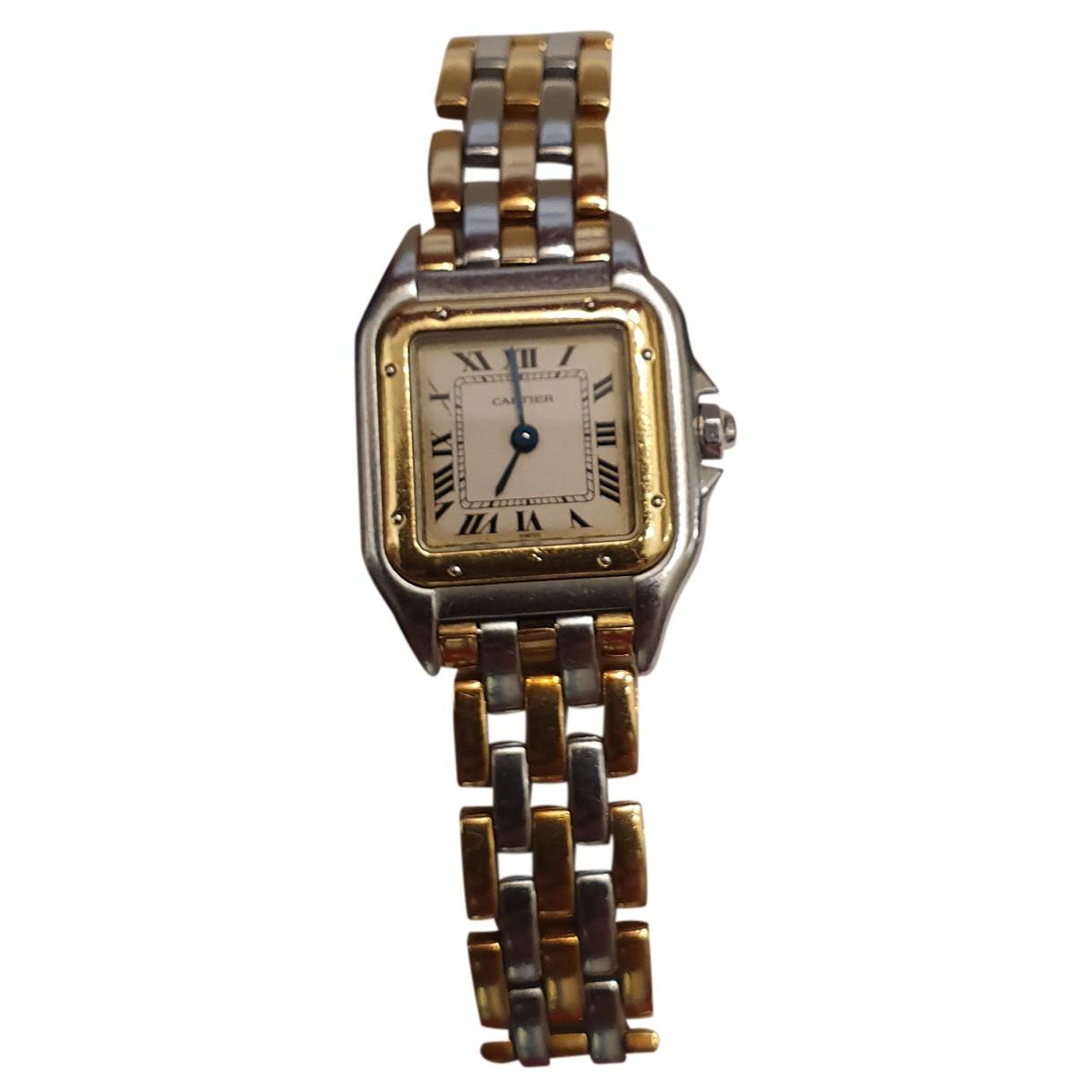 Cartier Panthere Uhr in  Silber Gold und Stahl