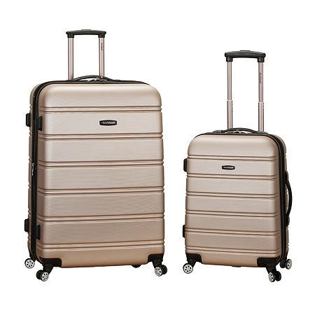 Rockland Melbourne 2-pc. Hardside Spinner Luggage Set, One Size , Pink