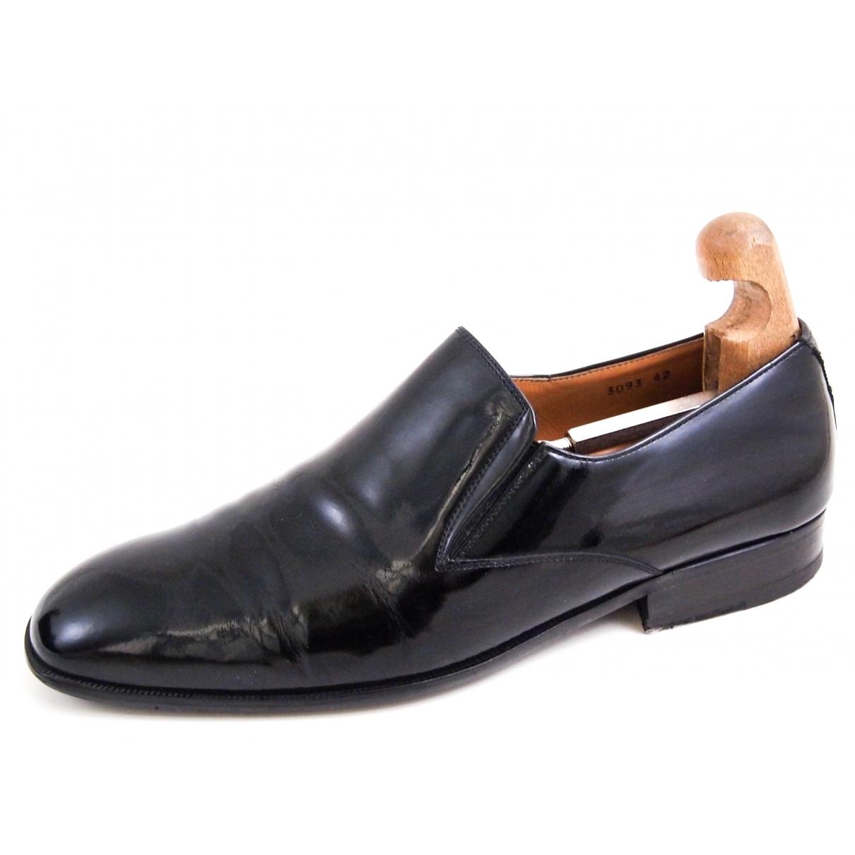 Magnanni \N Black Patent leather Flats for Men 42 EU