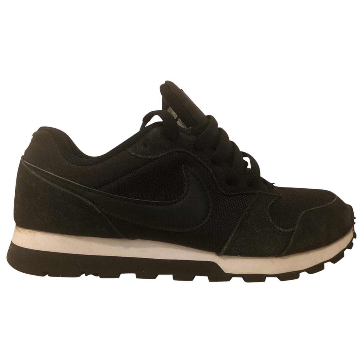 Nike Air Max  Sneakers in  Schwarz Veloursleder