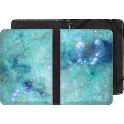 Amazon Kindle Touch eBook Reader Huelle - Abstract Galaxy - Light Blue von Barruf