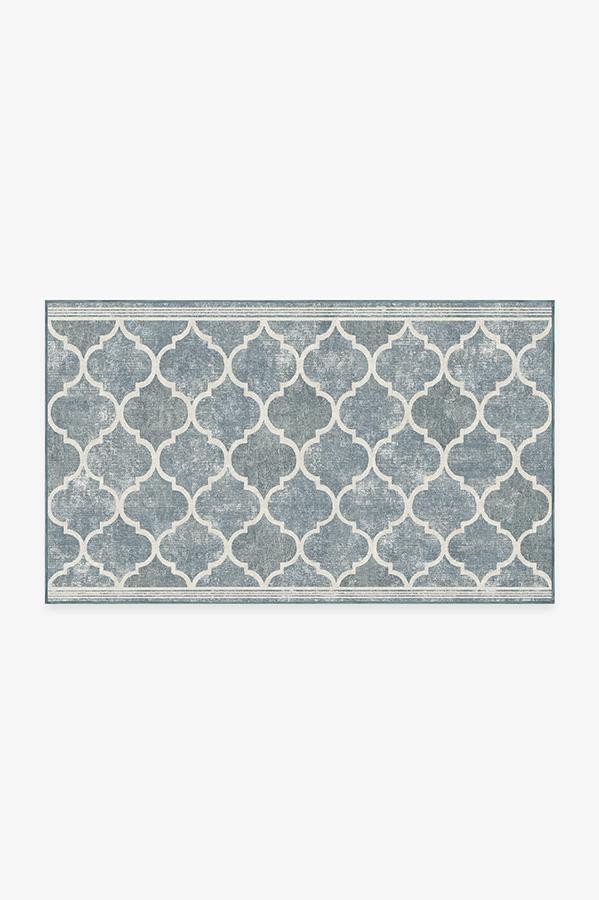 Washable Rug Cover & Pad | Terali Slate Rug | Stain-Resistant | Ruggable | 3'x5'