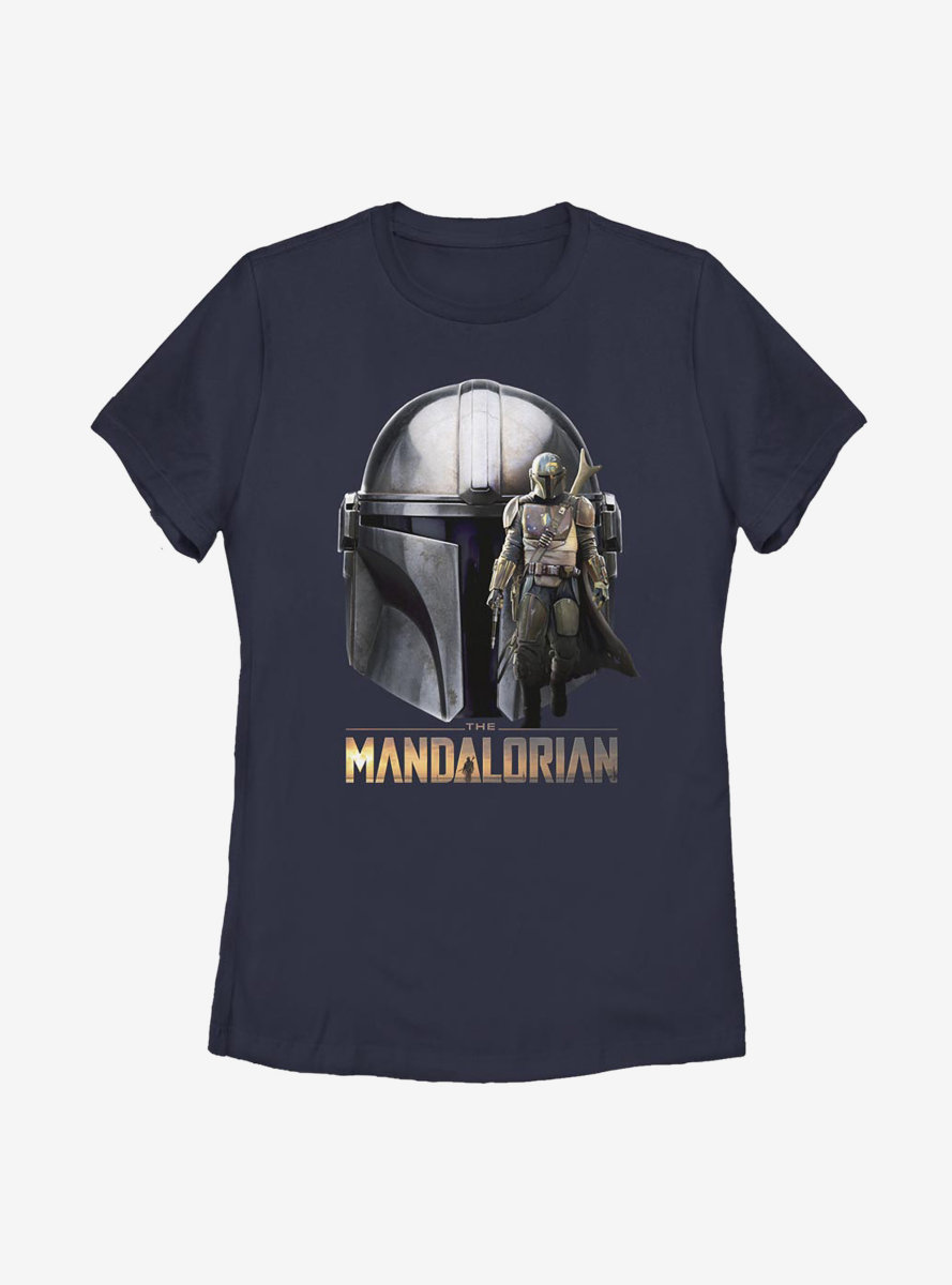 Star Wars The Mandalorian Mando Helmet Womens T-Shirt