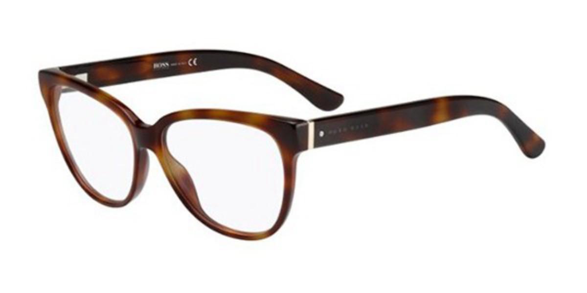 Boss by Hugo Boss Boss 0687 05L Women's Glasses Brown Size 54 - Free Lenses - HSA/FSA Insurance - Blue Light Block Available
