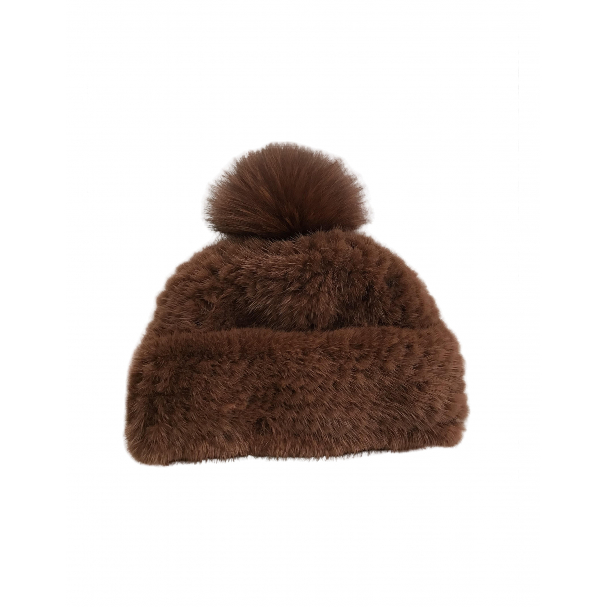 Yves Salomon \N Brown Fox hat for Women 56 cm