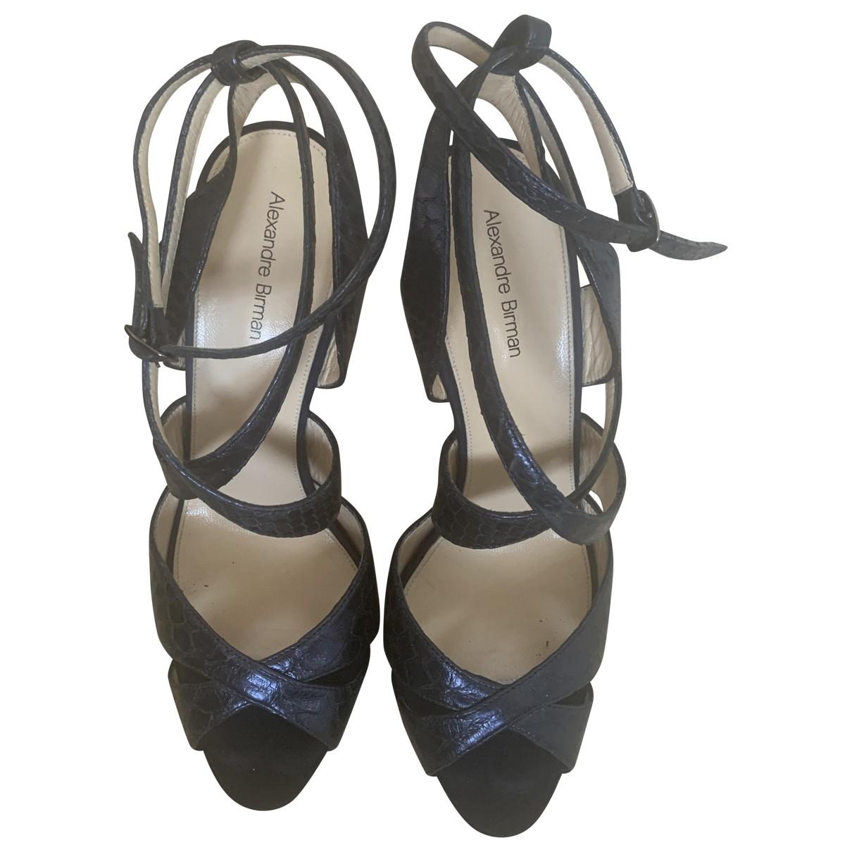 Alexandre Birman \N Blue Python Sandals for Women 9.5 US