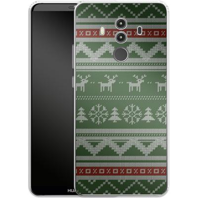Huawei Mate 10 Pro Silikon Handyhuelle - Norwegian Jumper Green von caseable Designs