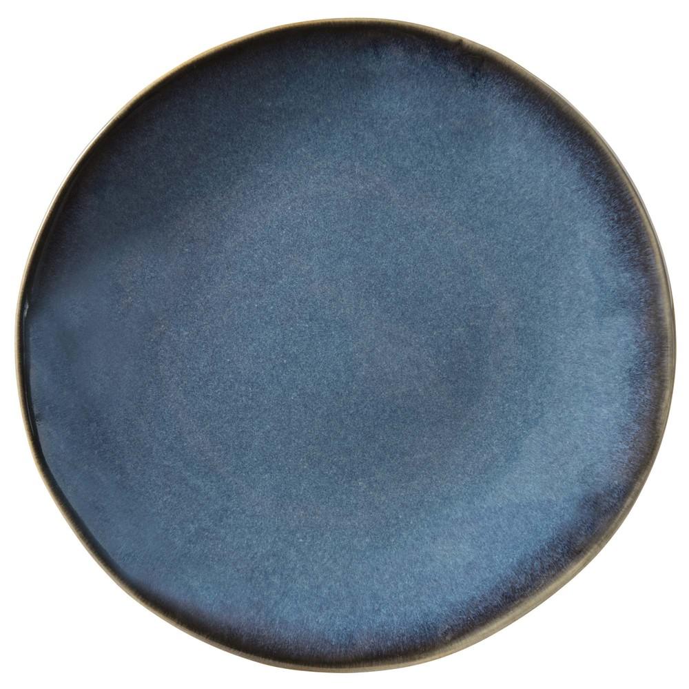Dessertteller aus Keramik blau