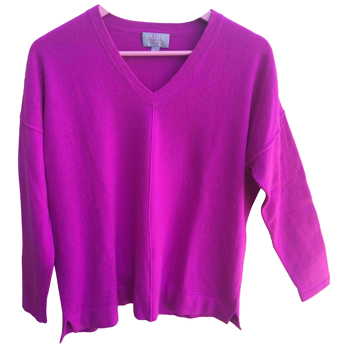 Pure Collection \N Purple Cashmere Knitwear for Women 38 FR