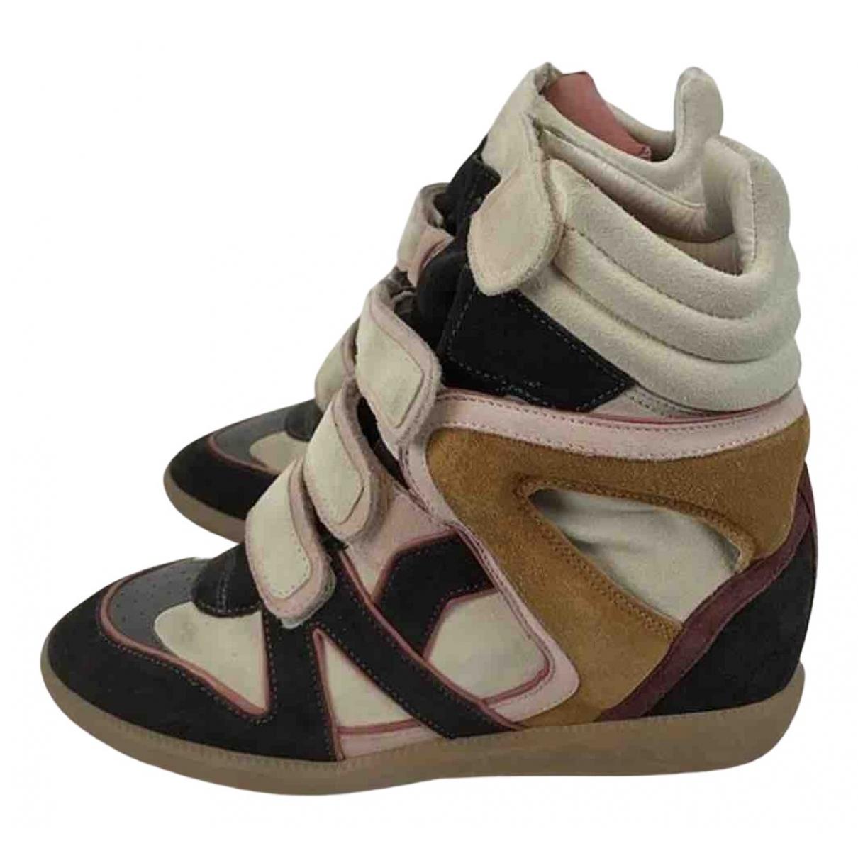 Isabel Marant Beckett Sneakers in  Bunt Leinen