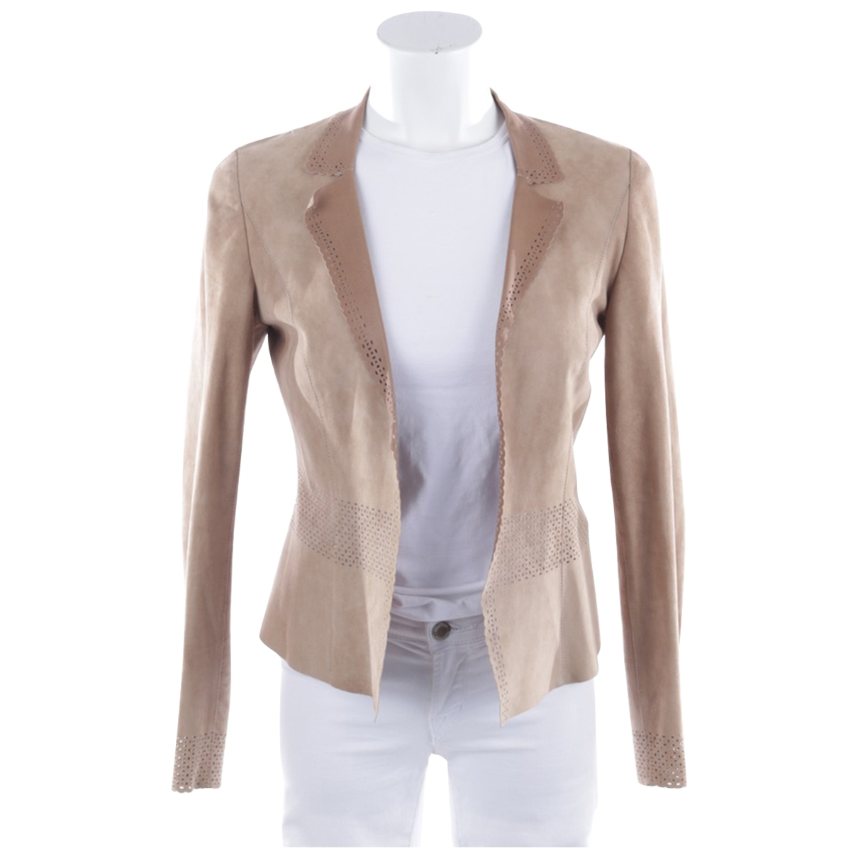 Marc Cain \N Beige Leather jacket for Women S International