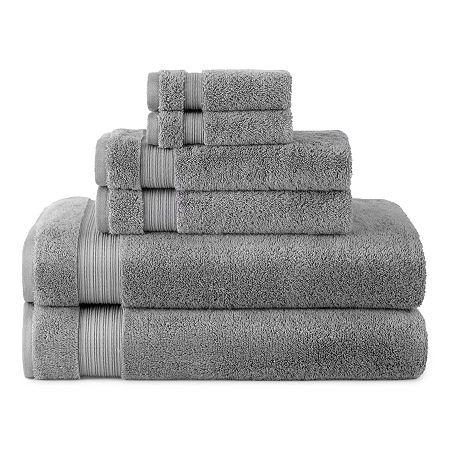 Linden Street Organic 6pc Bath Towel Set, One Size , Gray