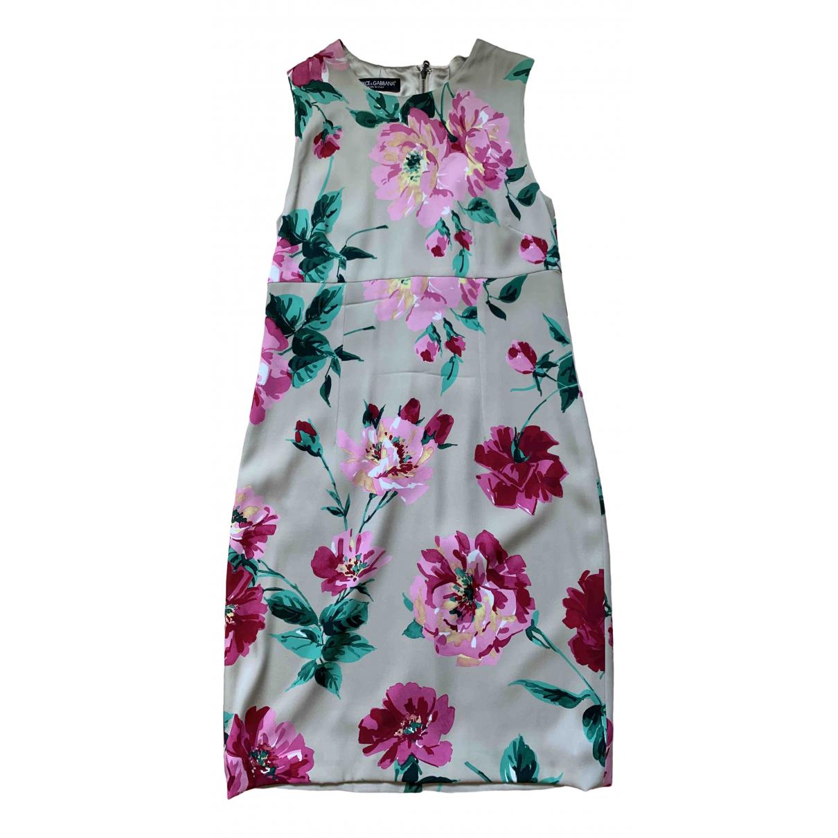 Dolce & Gabbana \N Kleid in  Bunt Seide
