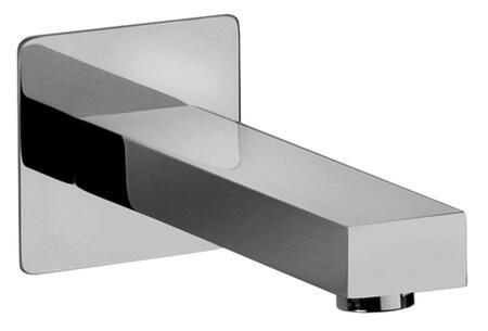 12430-85 Modern Cast Brass Tub Spout and Trim  Designer Brushed Chrome