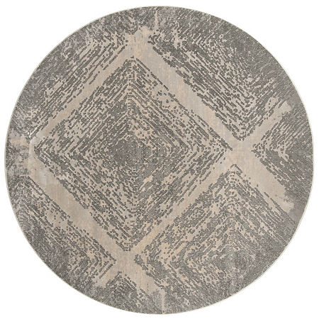 Safavieh Meadow Collection Myrtle Geometric Round Area Rug, One Size , Beige